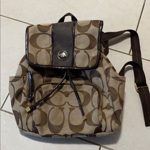 Ladies Coach small backpack purse